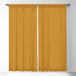 Rich Golden Mustard Yellow - Solid Plain Block Colors - Autumn / Fall / Autumnal Colours / Gold / Jewel Tones / Brown Blackout Curtain