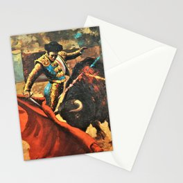 Plaza de Toros de Pamplona, Spanish Bullfighting Vintage Advertising Poster  Stationery Cards