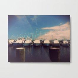 Boats at Hatteras. Metal Print