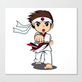 Taekwondo Boy Canvas Print