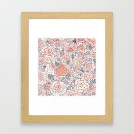 Freehand Floral Framed Art Print