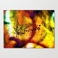 marijuana Canvas Prints featuring Marijuana  by SilverFoxRun