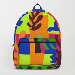 Matisse Inspired Colorful Collage #3 Backpack