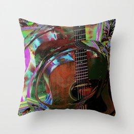 The Magic of Guitar Waves Throw Pillow