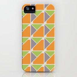 Retro Geometry surface pattern (Orange-green) iPhone Case