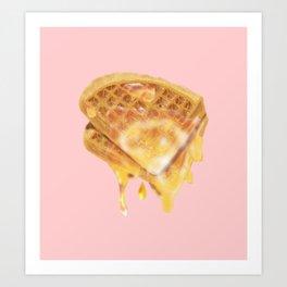 Breakfast whit Waffles  Art Print