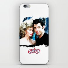 Sandy and Danny from Grease - Painting Style iPhone & iPod Skin