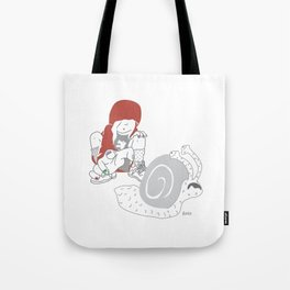 Run snail, RUN ! Tote Bag