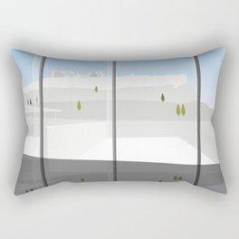 A Day at the Acropolis Museum of Athens Greece Rectangular Pillow