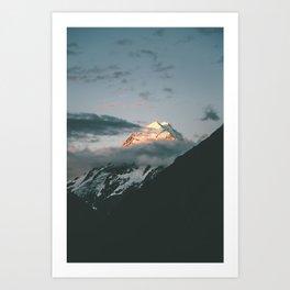 The majestic Aoraki / Mt Cook at dusk Art Print