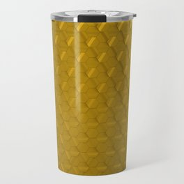 Golden honeycomb pattern Travel Mug