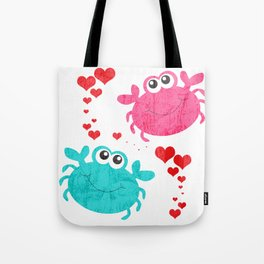 Love Crab Tote Bag