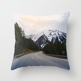 Austrian Road Throw Pillow
