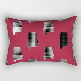 Bama crimson tide college state pattern print university of alabama varsity alumni gifts Rectangular Pillow