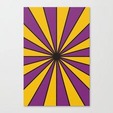 CVS0098 Purple and Poppy yellow rays Canvas Print