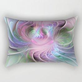 Temperament, Colorful Abstract Fractals Art Rectangular Pillow