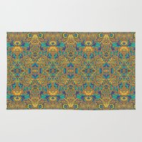 arabic Area & Throw Rugs featuring Arabic Marigold by GEETIKAGULIA