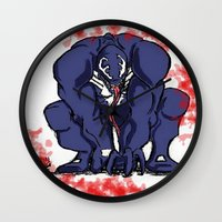 venom Wall Clocks featuring Venom by Iron King