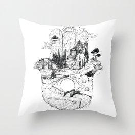 Hamsa in Nature Throw Pillow
