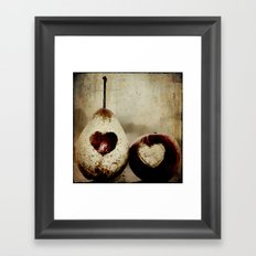 a pear in love Framed Art Print