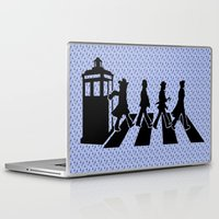 dr who Laptop & iPad Skins featuring Dr Who 50th anniversary by Freak Shop | Freak Products