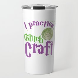 Awesome Craft Crafter Gifts Yarn Quilt Crochet Knit Travel Mug