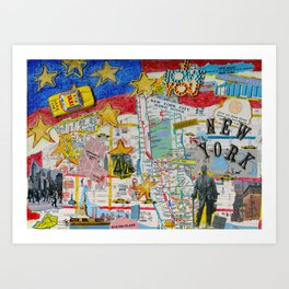 New York City Collage Art Print