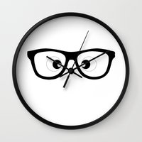 glasses Wall Clocks featuring Glasses by Kit4na