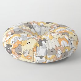 Cats, Kitties and a Spy Floor Pillow