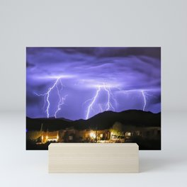 Incoming Monsoon Storm Action 2019 Mini Art Print