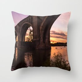 CSX A-Line Sunset Throw Pillow