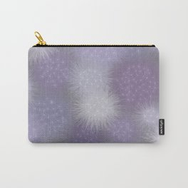 Poof Balls in Lavender and Gray Carry-All Pouch