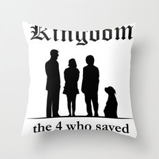 The 10th Kingdom: The 4 Who Saved the 9 Kingdoms Throw Pillow