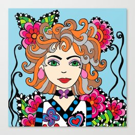 Style Girl - Shella - Blue Canvas Print