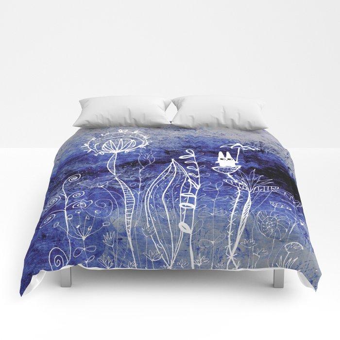 big adventure at night Comforters