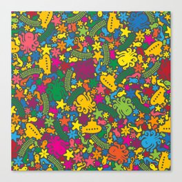Under the Sea Scatter Canvas Print