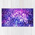 TRIBAL LEOPARD GALAXY Animal Print Aztec Native Pattern Geometric Purple Blue Ombre Space Galactic by ebiemporium