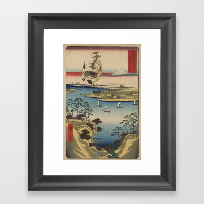 Kōnodai tonegawa Appa Gerahmter Kunstdruck
