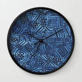 African Fabrics Wall Clock