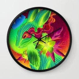 Conejo Rey Lagrima Azul Wall Clock