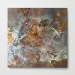 Dark Clouds of the Carina Nebula Metal Print