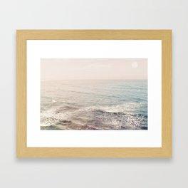 Peachy Sunset Dreams Framed Art Print