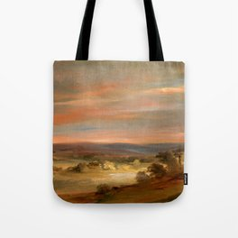 """John Constable """"A View on Hampstead Heath, Early Morning"""" Tote Bag"""