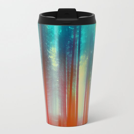 Abstract Forest Metal Travel Mug