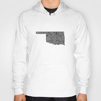 oklahoma Hoodies featuring Typographic Oklahoma by CAPow!