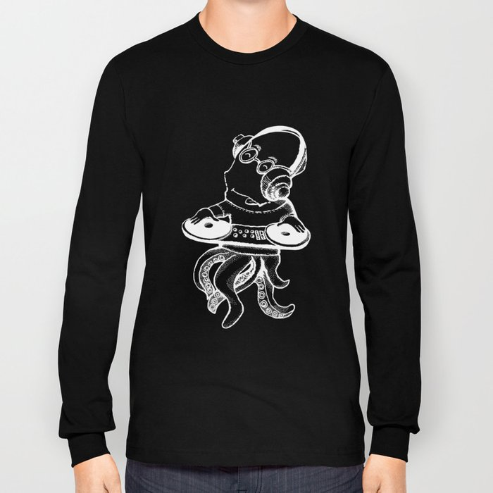 OCTO DJ BLACK Long Sleeve T-shirt