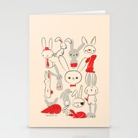 bunnies Stationery Cards featuring Bunnies by Jay Fleck