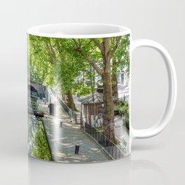 Lock Ecluse du temple at the Canal Saint-Martin in Paris Coffee Mug