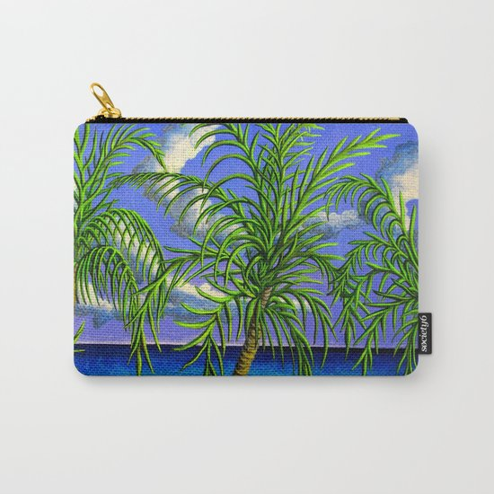 palms and sea Carry-All Pouch