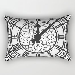 Big Ben, Clock Face, Intricate Vintage Timepiece Watch Rectangular Pillow